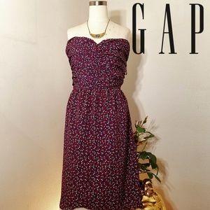 Gap plus size 18 strapless midi dress built in bra